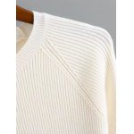 Flare Sleeve Stretchy Color Block Knitwear deal