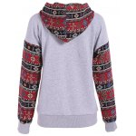 cheap Front Pocket Pullover Jacquard Hoodie