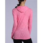 Dry-Quick Heathered Drawstring Pink Hoodie for sale