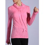 Dry-Quick Heathered Drawstring Pink Hoodie