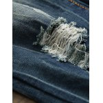 Scratched Zipper Fly Ripped Jeans for sale