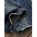 best Scratched Zipper Fly Ripped Jeans