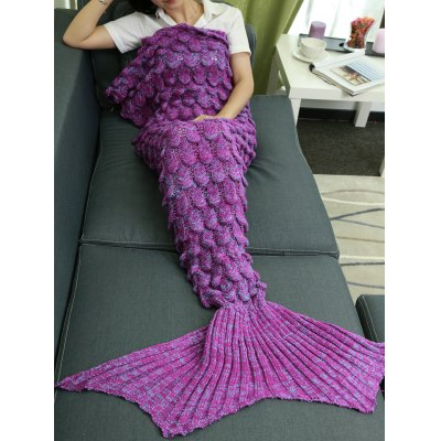 Knitting Fish Scales Design Mermaid Tail Style BlanketBlanksts&amp; Throws<br>Knitting Fish Scales Design Mermaid Tail Style Blanket<br><br>Material: Acrylic<br>Package Contents: 1 x Blanket<br>Pattern Type: Others<br>Size(L*W)(CM): 180*90<br>Type: Knitted<br>Weight: 1.008kg