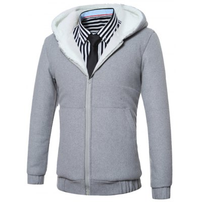 Hooded Fleece Zip-Up HoodieMens Hoodies &amp; Sweatshirts<br>Hooded Fleece Zip-Up Hoodie<br><br>Material: Cotton,Polyester<br>Clothing Length: Regular<br>Sleeve Length: Full<br>Style: Fashion<br>Weight: 1.119kg<br>Package Contents: 1 x Hoodie