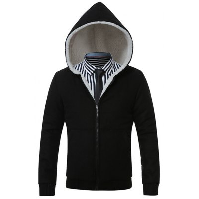 Hooded Fleece Zip-Up Hoodie