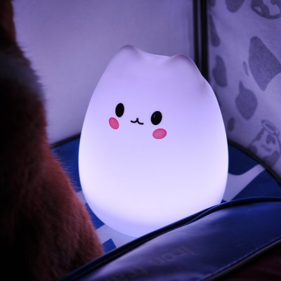 Cartoon LED Silicon Color Changeable Touching Night Light