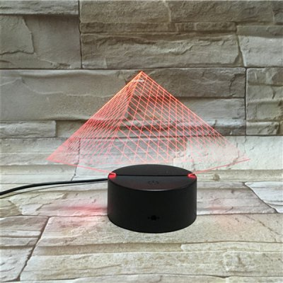 3D Visual Color Changing Pyramid LED Touching Night Light