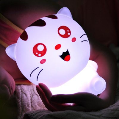 Cartoon Cat Colorful Remote Control Night Light