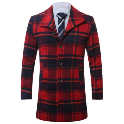 Lapel Long Sleeve Coat