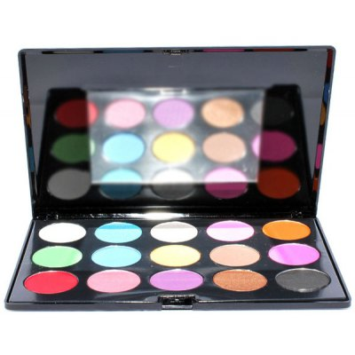 15 Colours Shimmer Eyeshadow Palette with Mirror
