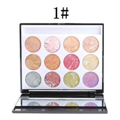 12 Colours Eyeshadow Palette with Mirror and Brush