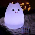 USB Rechargeable Cartoon LED Colorful Remote Control Night Light