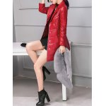 PU Leather Detached Fur Quilted Coat deal
