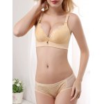 Padded Embroidered Push Up Bra and Panty Set for sale