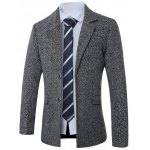 Lapel Single-Breasted Cotton Blends Wool Coat
