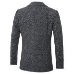 Lapel Single-Breasted Cotton Blends Wool Coat deal