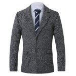 cheap Lapel Single-Breasted Cotton Blends Wool Coat