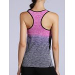 cheap Space-Dyed Racer Back Ombre Tank Top