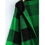 Open Front Checkered Pattern Pocket Coat deal