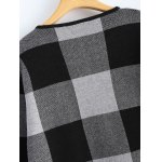 Open Front Checkered Pattern Pocket Coat photo