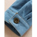 Shirt Neck Fringes Denim Shirt deal