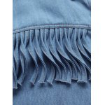 Shirt Neck Fringes Denim Shirt for sale