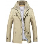 Epaulet Design Button Pocket Layered-Collar Coat deal