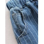Drawstring Ripped Striped Jeans deal