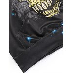 Skull 3D Printed Drawstring Galaxy Hoodie photo