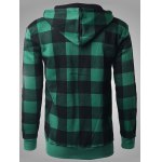 Zip-up Plaid Hoodie with Solo Mon Letter Print deal