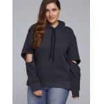 Elbow Cut Out Side Slit Hoodie