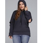 cheap Elbow Cut Out Side Slit Hoodie