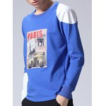 Crew Neck Long Sleeve Printed T Shirt for sale