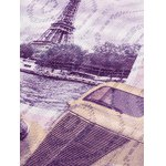 Eiffel Tower Pattern Round Neck Long Sleeve T-Shirt photo