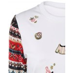 Festival Sequins Embroidery Christmas Graphic Sweatshirt deal