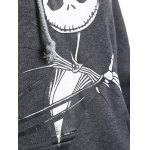 Plus Size Halloween Ghost Print Graphic Hoodie for sale