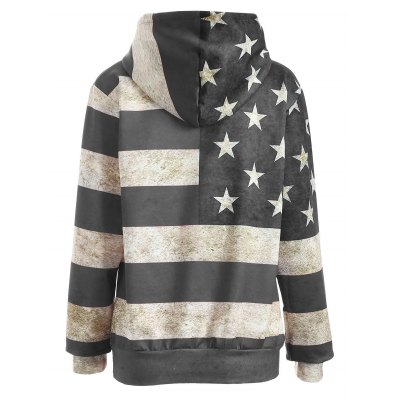 American Flag Print Pullover HoodieSweatshirts &amp; Hoodies<br>American Flag Print Pullover Hoodie<br><br>Material: Polyester<br>Clothing Length: Regular<br>Sleeve Length: Full<br>Style: Fashion<br>Pattern Style: Print<br>Season: Fall,Spring<br>Weight: 0.472kg<br>Package Contents: 1 x Hoodie
