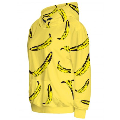 Banana Print Pullover HoodieSweatshirts &amp; Hoodies<br>Banana Print Pullover Hoodie<br><br>Material: Spandex<br>Clothing Length: Regular<br>Sleeve Length: Full<br>Style: Fashion<br>Pattern Style: Print<br>Season: Fall,Spring,Winter<br>Weight: 0.458kg<br>Package Contents: 1 x Hoodie