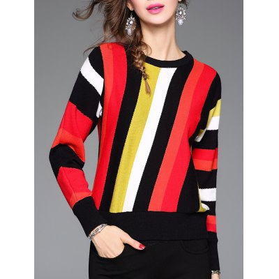 Colorful Striped Knitwear