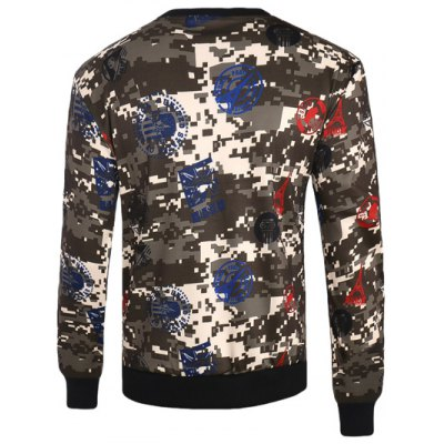 Seal and Camouflage Print Crew Neck Long Sleeve SweatshirtMens Hoodies &amp; Sweatshirts<br>Seal and Camouflage Print Crew Neck Long Sleeve Sweatshirt<br><br>Material: Cotton,Polyester<br>Clothing Length: Regular<br>Sleeve Length: Full<br>Style: Fashion<br>Weight: 0.500kg<br>Package Contents: 1 x Sweatshirt