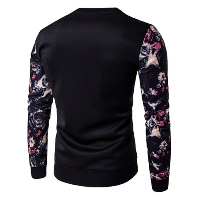 Floral Sleeve Animal Embroidery SweatshirtMens Hoodies &amp; Sweatshirts<br>Floral Sleeve Animal Embroidery Sweatshirt<br><br>Material: Cotton,Polyester<br>Clothing Length: Regular<br>Sleeve Length: Full<br>Style: Casual<br>Weight: 0.450kg<br>Package Contents: 1 x Sweatshirt