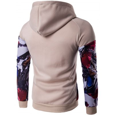 Floral Print Patchwork Design Pullover HoodieMens Hoodies &amp; Sweatshirts<br>Floral Print Patchwork Design Pullover Hoodie<br><br>Material: Cotton Blends<br>Clothing Length: Regular<br>Sleeve Length: Full<br>Style: Casual<br>Weight: 0.500kg<br>Package Contents: 1 x Hoodie
