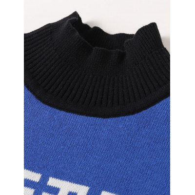 Boys Crew Neck Geometric Pullover Knit Sweater