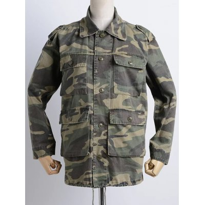 Camouflage Print Loose Field Jacket