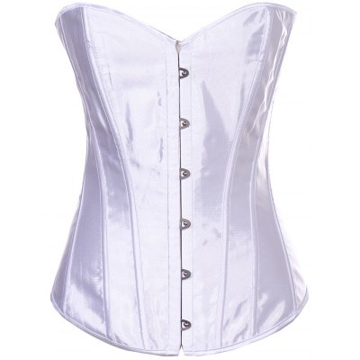 Sheeny Buckle Lace-Up Corset