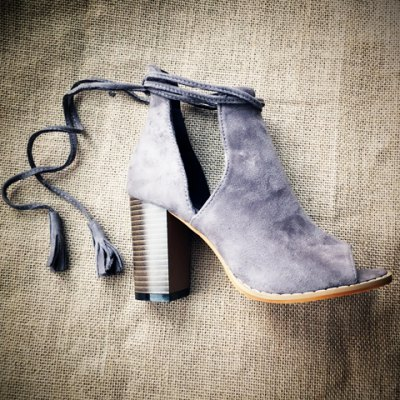 Tassels Chunky Heel Ankle Boots