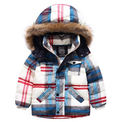 Plaid Kids Padded Jacket