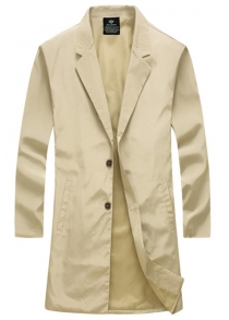 Turn-Down Collar Single-Breasted Lengthen Wind Coat