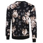 cheap 3D Flowers Print Crew Neck Long Sleeve Sweatshirt