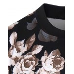 3D Flowers Print Crew Neck Long Sleeve Sweatshirt deal